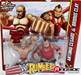 ANTONIO CESARO & BRODUS CLAY - WWE RUMBLERS TOY WRESTLING ACTION FIGURES