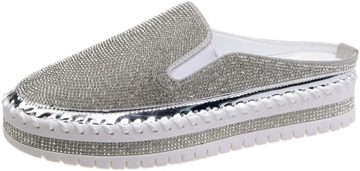 Duxi Women's Heelless Slip-On Sneakers