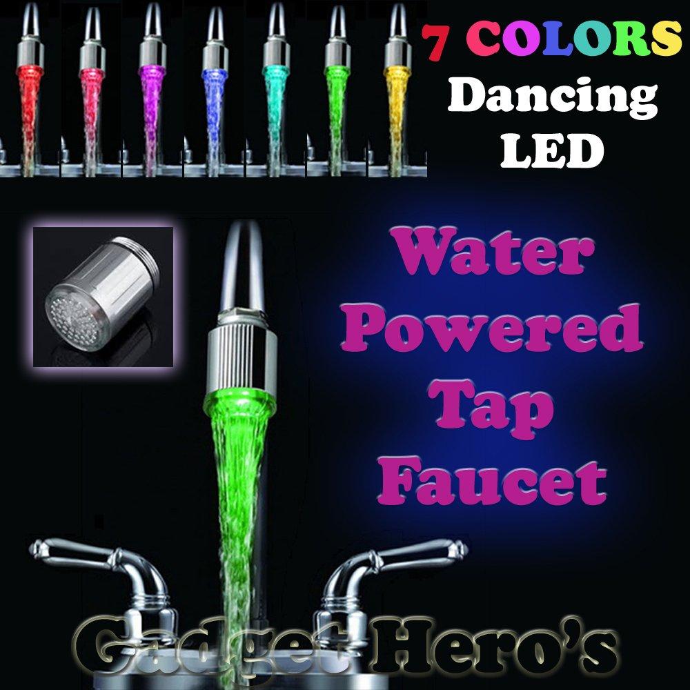 Amazon.com: Cido Colorful LED Light Water Stream Faucet Tap 7 Colour ...