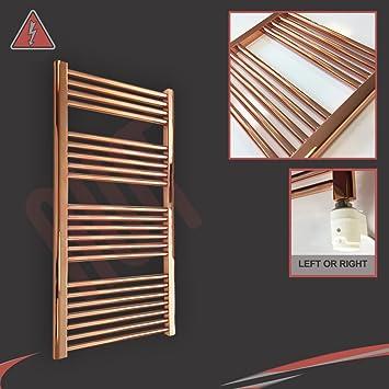 600 mm (W) X 1200 mm (H) Pre relleno recto cobre toallero