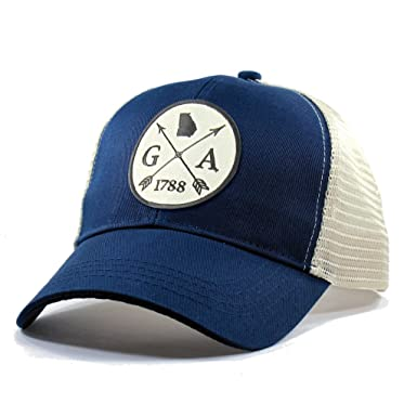 0f3834fa722 Amazon.com  Homeland Tees Men s Georgia Arrow Patch Trucker Hat ...