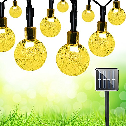 Solar String Lights 30 LED Bubule Ball Multi and Warm light (Warm White) Modes Decoration Lighting for Outdoor Waterproof Multi Color Decorative Lights Christmas Christmas Lights Render