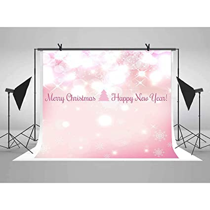 lucksty 6x6ft rose gold christmas photography backdrop pink happy new year background lulf208