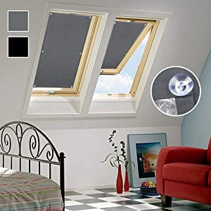 Oxdigi Blackout Blind Shade with Suction Cups Temporary Portable Window Cover for Travel Baby Nursery Bedroom Car RV Thermal Insulated 100% Blackout Darkening Curtain 37.7 x 36.6 inches