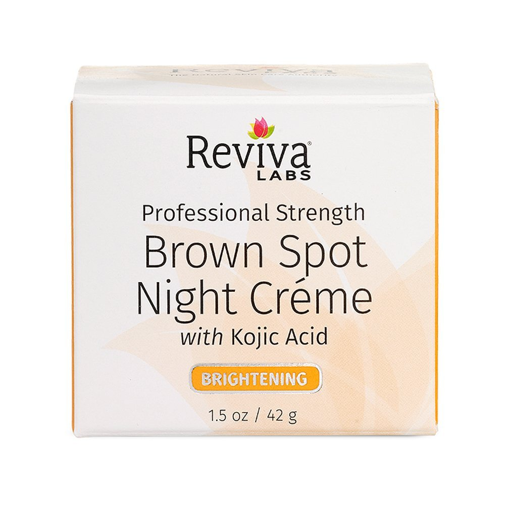 Reviva Labs Brown Spot Night Cream with Kojic Acid 28g/1oz - For All Skin Types 586-K10