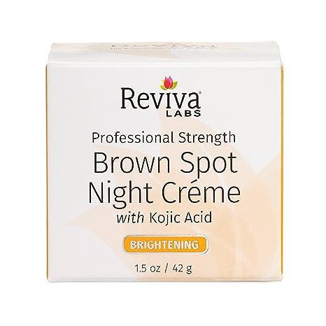 Reviva  Brown Spot Skin Lightening Face Night Cream For All Skin Types - 1 Oz, 6 Pack Wei East Black Mushroom Re-Lasticity Cream