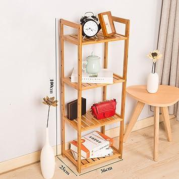 Home Style Bambus Regal 4 Tiers Badezimmer Platzsparendes