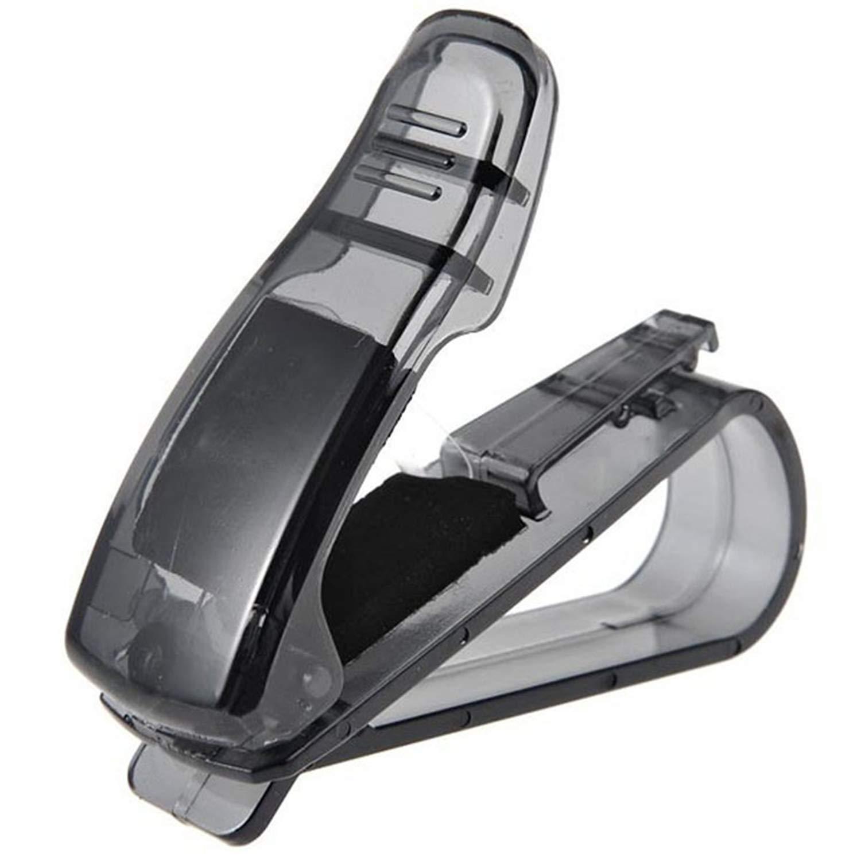 Sun Visor Clip Sunglasses Holder for Car Sun Visor Jersh Glasses Holder for Car Sun Visor Sunglasses with Card Clip Ticket Receipt Card Clip Storage Black Car Visor Sunglasses Clip Holder