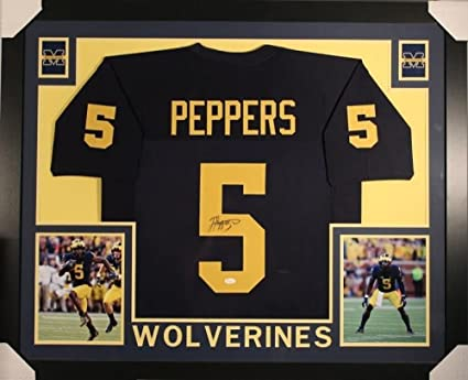 outlet store 79074 2ac8b Jabrill Peppers Signed Michigan Wolverines 35x43 Custom ...