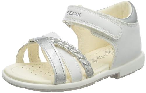 Dettagli su Geox Baby Verred, Sandali Bimba BIANCO (WHITE C1000)N.27