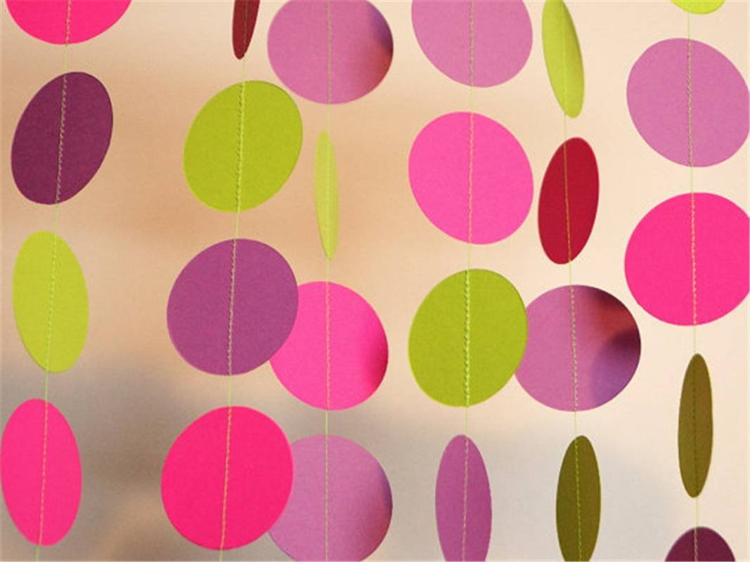 BFY Paper Garland Circle Decorative Wedding Party Festival Decor 26pcs/lot