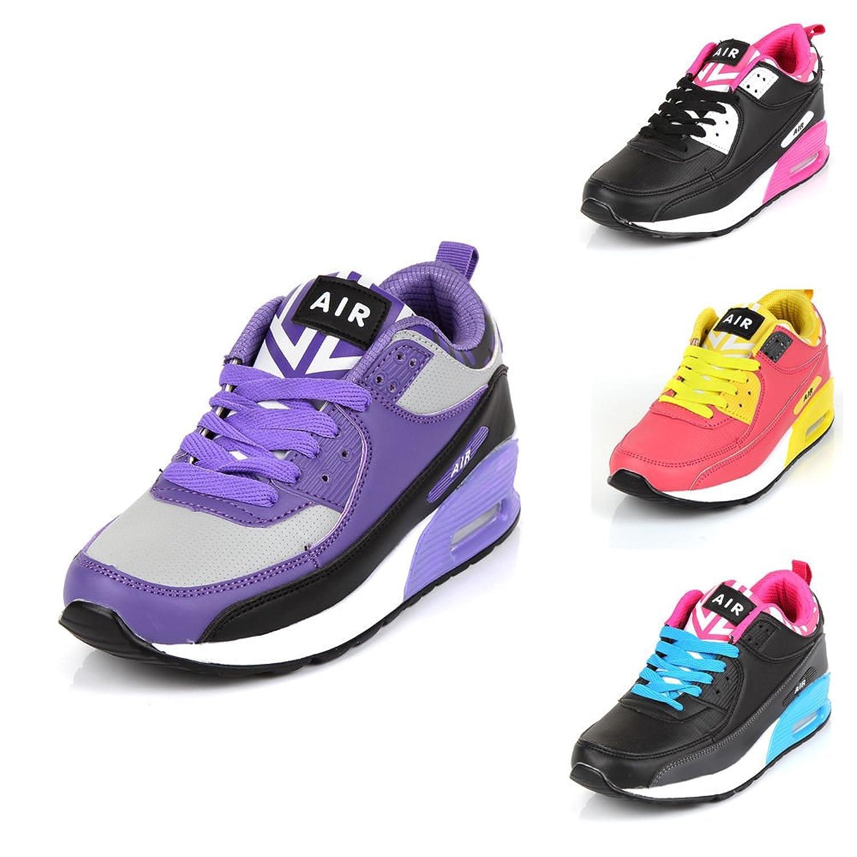 Desconocido Generic - Zapatillas de Running de Material Sintético Para Mujer Pink & Yellow diBbqtl