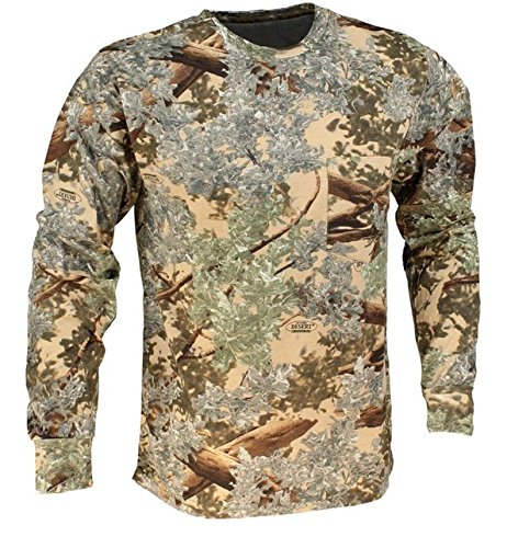 Hunting Shirt (King's Camo Cotton Long Sleeve Hunting Tee, Desert Shadow, X-Large)