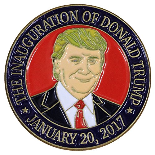 esidential Inauguration Portrait Lapel Pin/Hat Tac (Gold Enamel Portrait)
