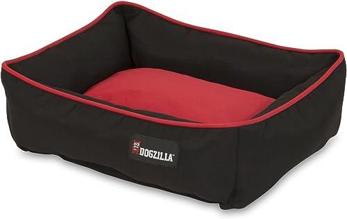 Petmate Dogzilla Rectangular Lounger, 22 X 18, Red Black
