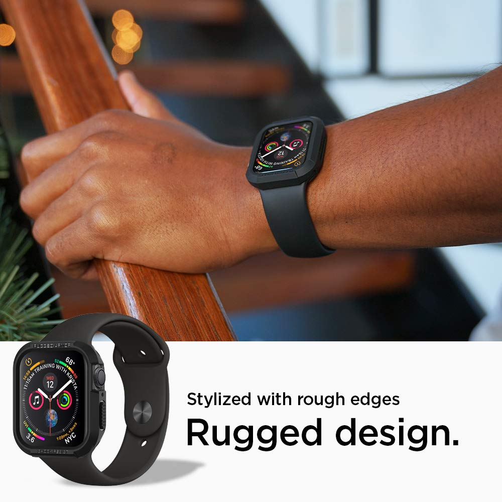 Spigen Rugged Armor Works with Apple Watch Case for 44mm Series 4 (2018) - Black by Spigen (Image #4)