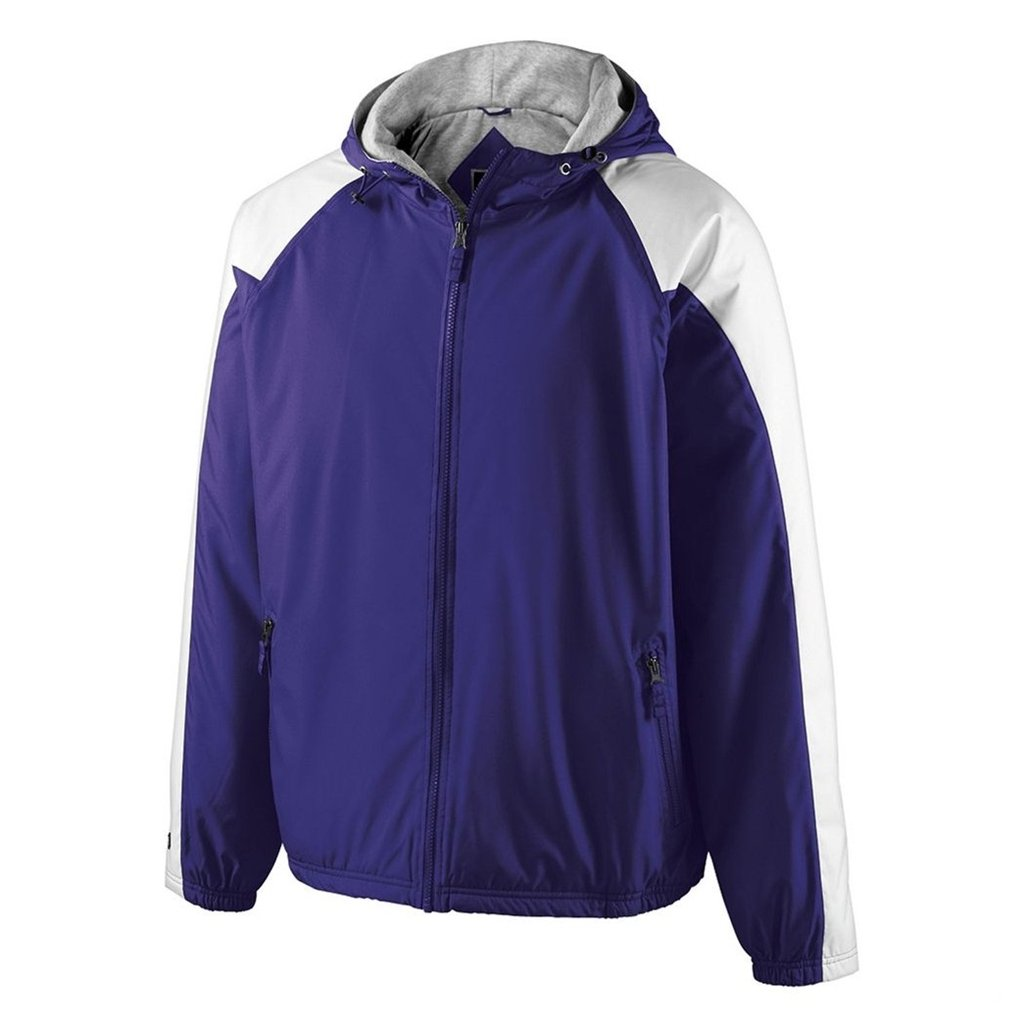 Holloway Youth Homefield Shell Jacket (Large, Purple/White) by Holloway