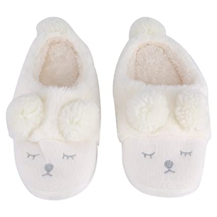 226351586 Winter Warm Short Plush Indoor Slippers Cute Cartoon Sheep Lamb Soft Indoor  Home Wear Slippers House