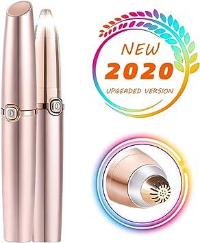 yuanmu Nuevo Depiladora de Cejas Recortador Cejas LED, Afeitadora Precis para la Depiladora Depiladora Eléctrica de Afeitadora Eficiente y sin Dolor para Recortadoras de Cejas para Mujer: Amazon.es: Salud y cuidado personal