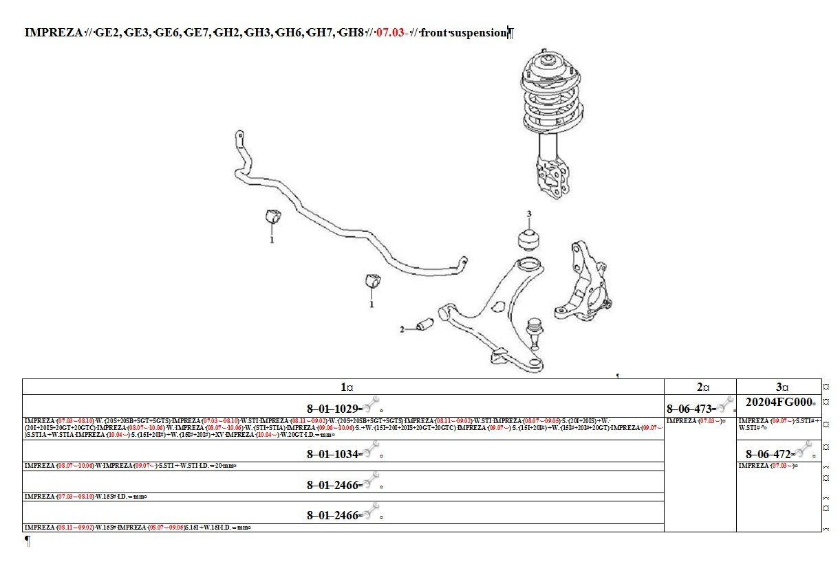 PU Bushing 8-06-473 Front Susp. Lower arm Impreza,Forester,Legacy,Outback,Tribeca,Exiga,