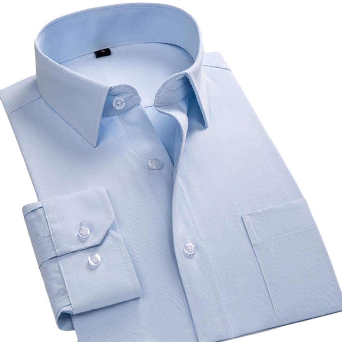 Winwinus Mens Formal Cotton Solid Office Premium Comfort Business Collared Dress Shirts 11 XL