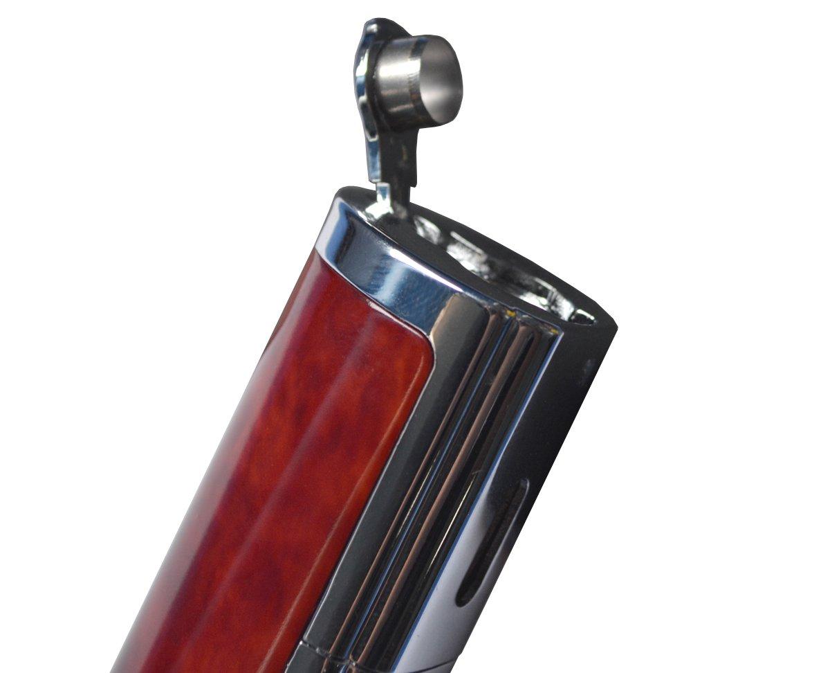larruping Quadruple Jet Flame Butane Cigar Cigarette Torch Lighter with Cigar Punch Attachment