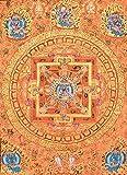 Mandala of Heruka in Yab Yum - Tibetan Thangka Painting