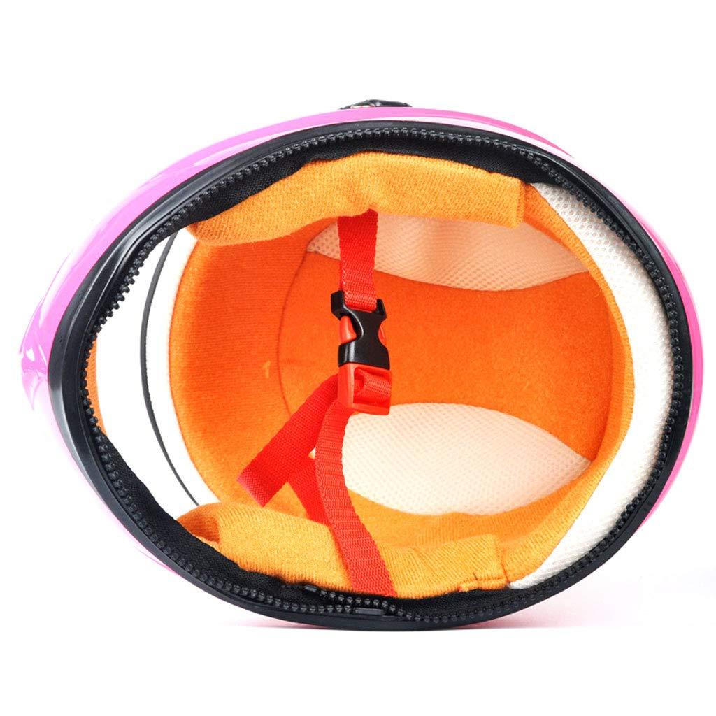 Color : Pink ciclomotor Adecuado para ni/ños de 6 a 10 a/ños ni/ño y ni/ña BHJqsy Casco el/éctrico para ni/ños