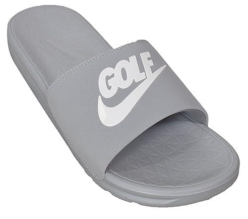 buy popular 2306a cd421 Nike Benassi Solarsoft 2 Men s Golf Slides (Wolf Grey, 13.0 D(M)