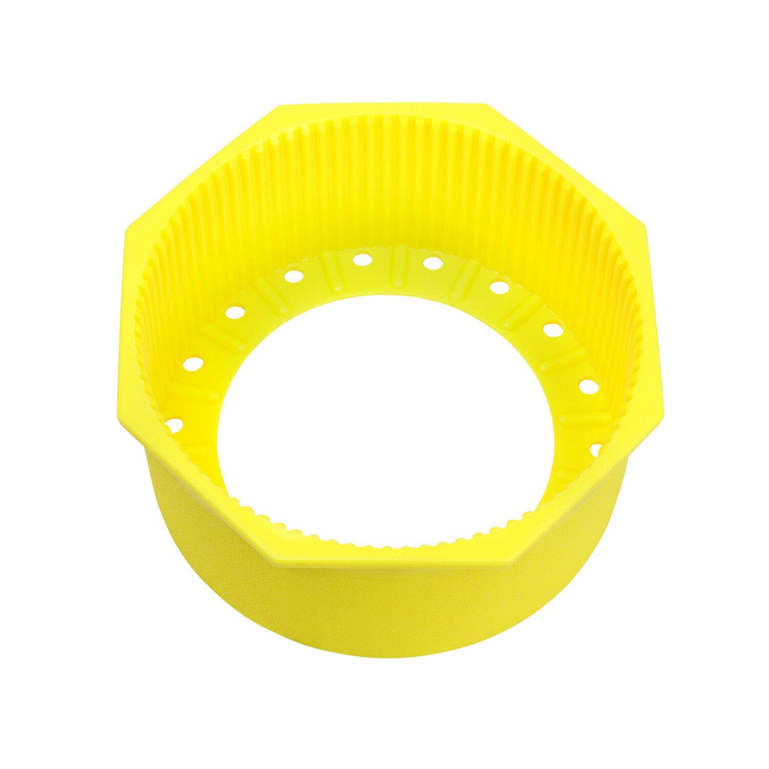 Trident Hex Edge 7.25'' Tank Boot for Flat Bottom Aluminum Tanks (Yellow) by Trident