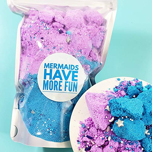 Bath Bomb Crumbles. Mermaid Bath Fizzy. Resealable Pouch. Mermaid birthday party favors for kids