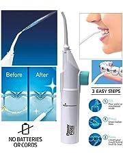 melyseu Portable irrigador Agua hilo dental irrigador portátil agua dientes dientes de limpieza en HELLERMANN Cepillo