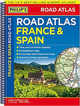 Map Of Spain And France Together.Philip S France And Spain Road Atlas Philips Road Atlas