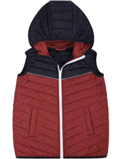Mrs Duberess Boys Gilet Kids Warm Hooded Sleeveless Coat Winter Jackets 6-14 Years