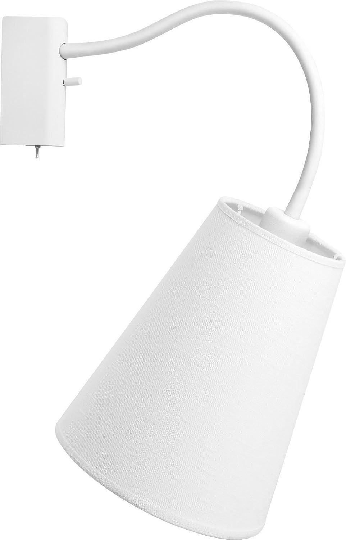 Wandleuchte Schalter Weiss Metall Wandlampe Wohnzimmer Modern