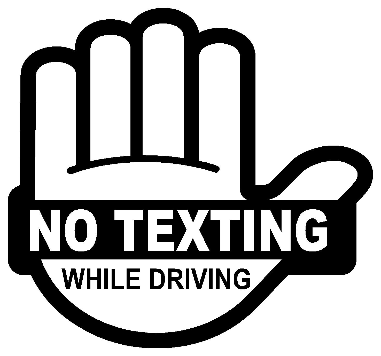 Amazon No Texting while driving sticker Automotive