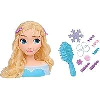 Smoby Frisierkopf Frozen Elsa-Cabeza de peluquería para niños