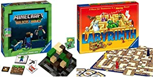 Ravensburger Minecraft: Builders & Biomes Strategy Board Game Ages 10 & Up & Labyrinth Family Board Game for Kids and Adults Age 7 and Up - Millions Sold, Easy to Learn and Play with Great Replay