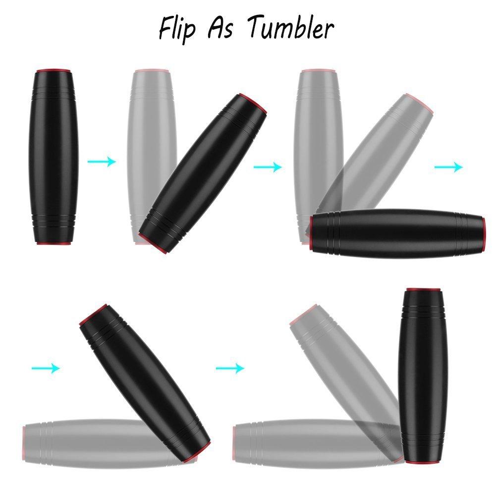 Black GS TRADE Fidget Stick Desktop Flip Toy Office Fidget Toy
