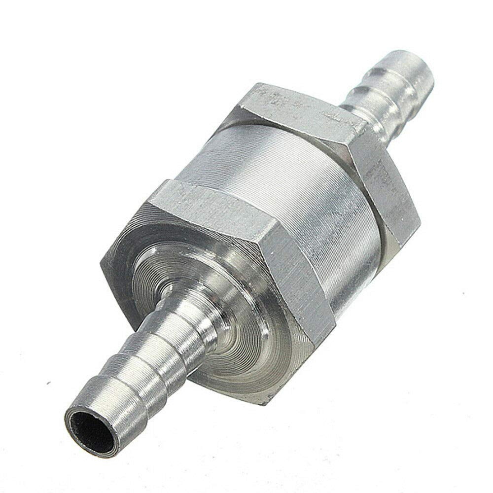 Pack of 1 One Way Valve SENRISE 12 MM Aluminum Alloy Non-Return One Way Valve Check Valve for Fuel//Water//Marine