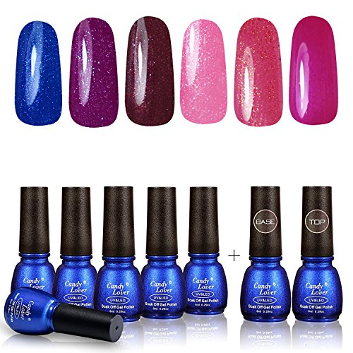 Perfect Summer Gel Nail Polish - Soak Off Nail Lacquers Kit