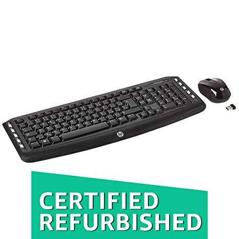 f0bf3e9e6c0 Hp Wireless Multimedia Keyboard & Mouse: Amazon.in: Electronics