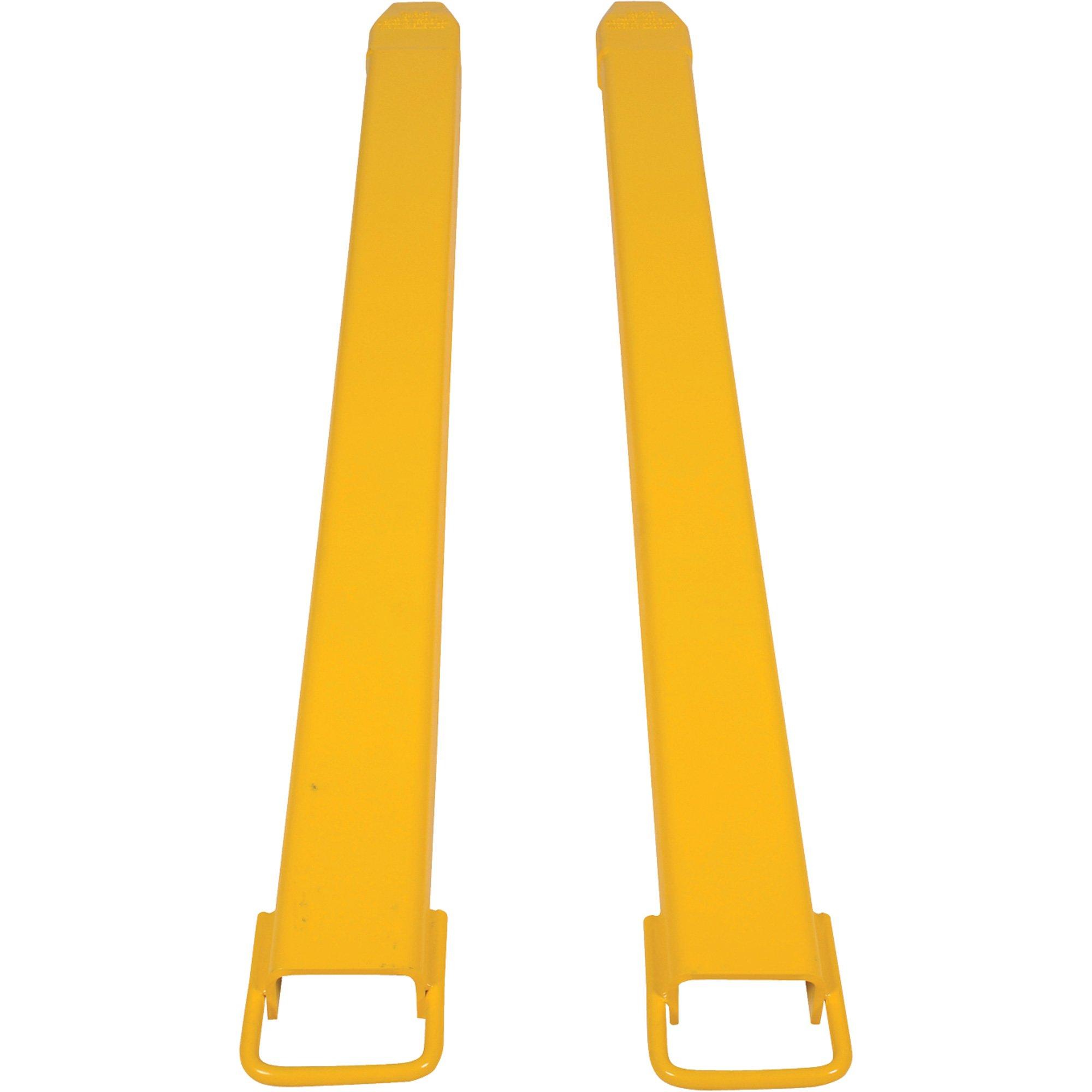 Vestil FE-4-72 Steel Fork Extensions, Accommodates 4'' Fork Width, 72'' Length, 2'' Thickness