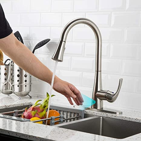 Touchless Kitchen Faucet with Pull Down Sprayer, Kitchen Sink Faucet with  Pull Out Sprayer, Single Hole and 3 Hole Deck Mount, Single Handle For ...