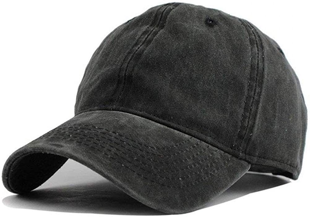 Men Women Classic Cotton Denim Baseball Cap School Bus Driver Headwear