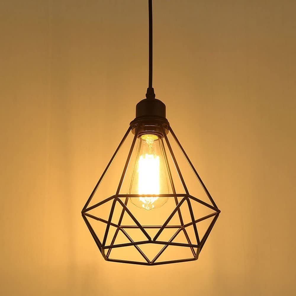 Retro Lámpara colgante Vintage iluminación de techo Iluminación E27 Capacidad AC220-240 V para comedor, Dormitorio, Café, Barra de Lectura Luz