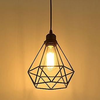 Lampe Suspension Vintage Maxsal E27 Lustre Plafonniers Sans