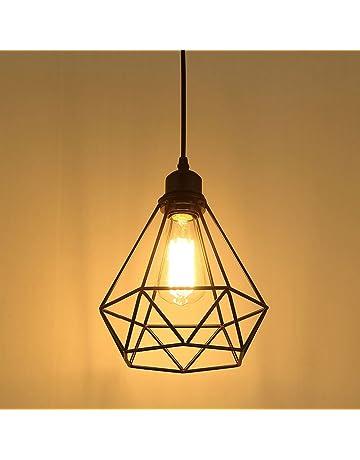 Lampe Suspension Vintage, Maxsal E27 Lustre Plafonniers (sans ampoule)  Style Retro Industrielle ( 7f26b303cf8a