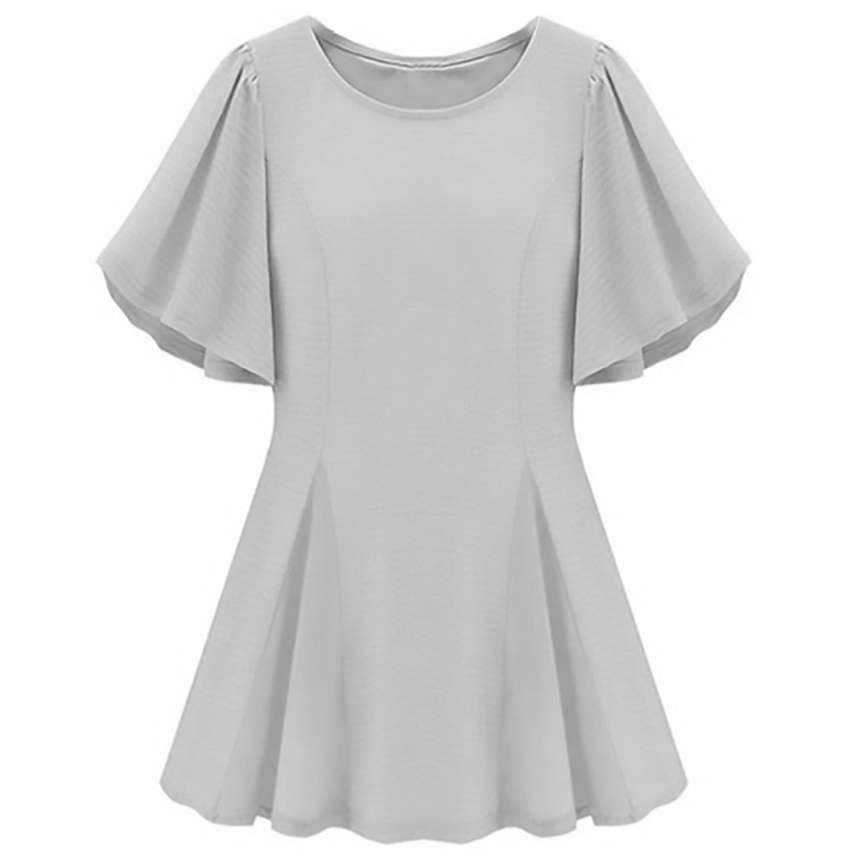 Bat Stil Ärmel kleine Sommerkleid Deacon - Weiß X-Large