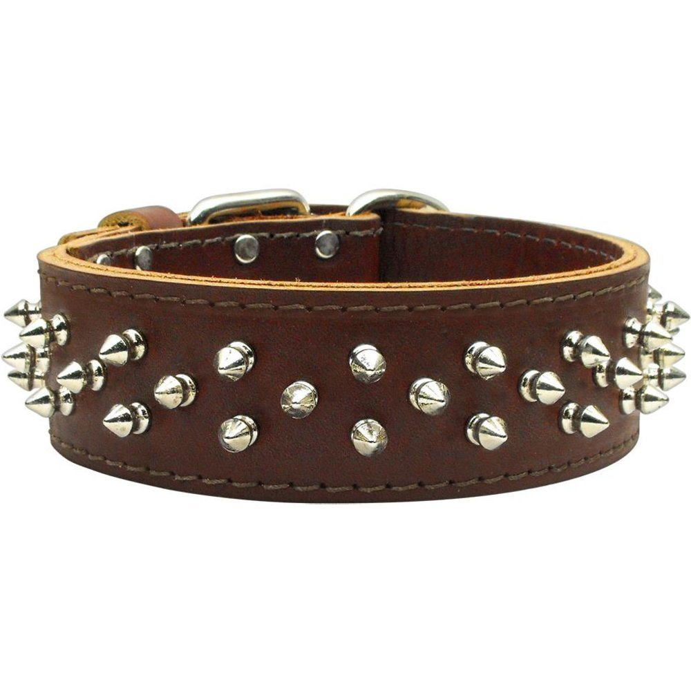 23\ Mirage Pet Products Brutus Burgundy Dog Collar, 23